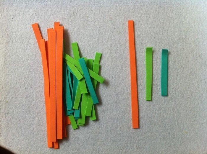 Гирлянда из фетровых морковок шаг 1