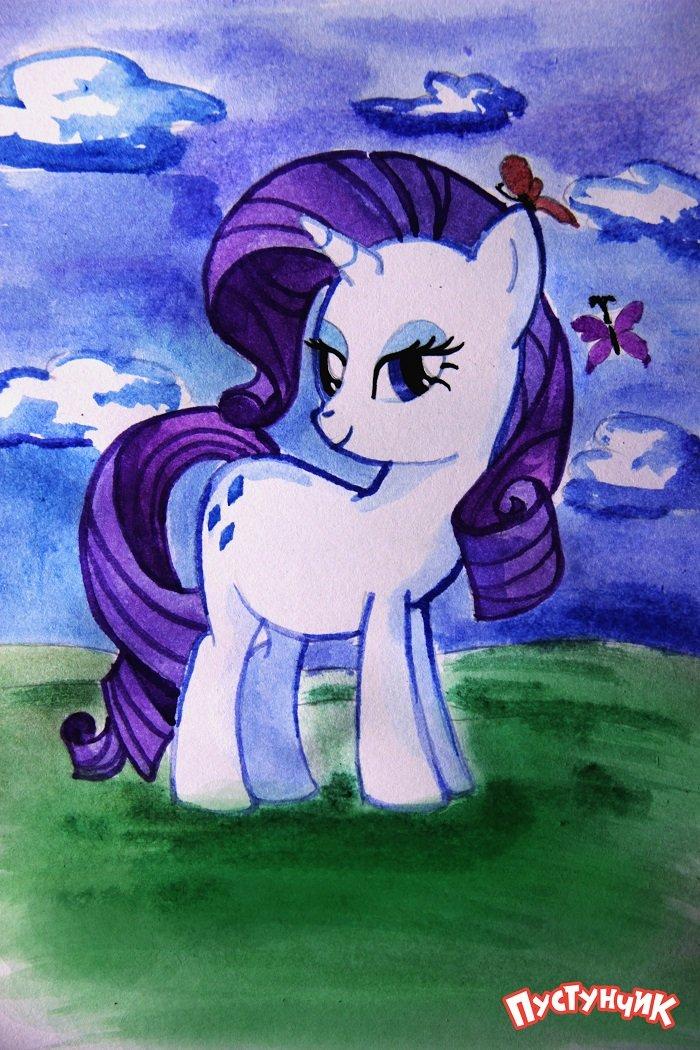 Как нарисовать пони Рарити, фото 12