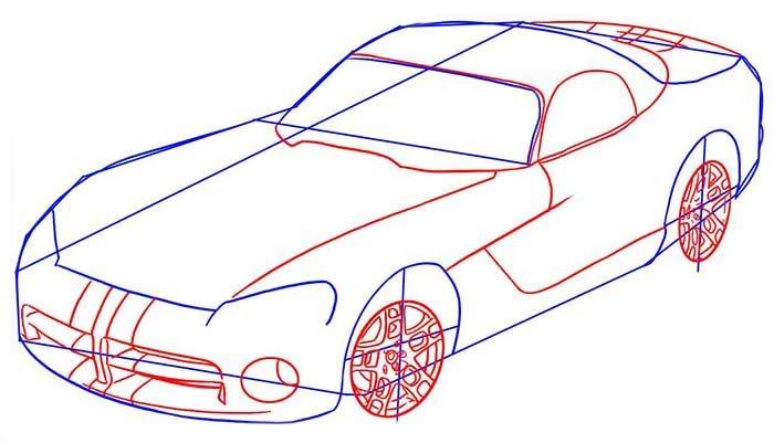 Як поетапно намалювати автомобіль