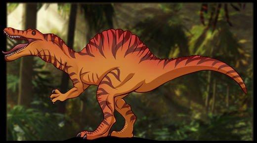 Как нарисовать динозавра Спинозавра, шаг 8