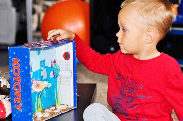 Летние поделки с детьми своими руками - аппликация аквариум, фото 5