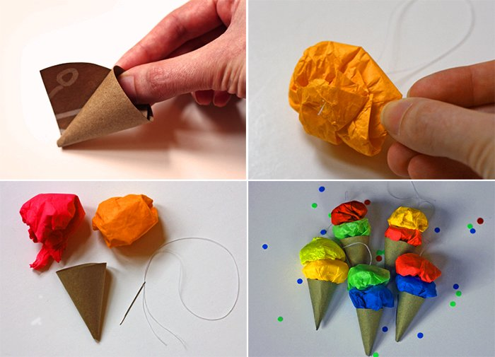 Як зробити морозиво ріжок з паперу, фото 5