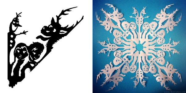 Схема вирізання сніжинок 1