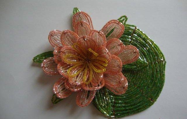 Лилии из бисера, схемы плетения - фото 12