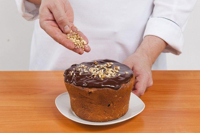 Прикраса паски: шоколадом фото 4