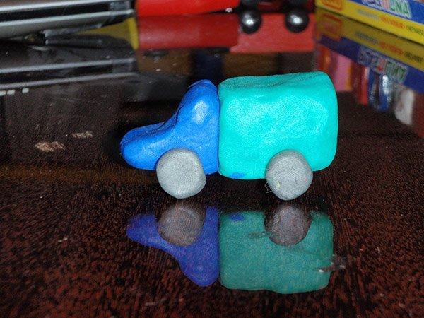 Фігурки з пластиліну - грузовик, фото 2