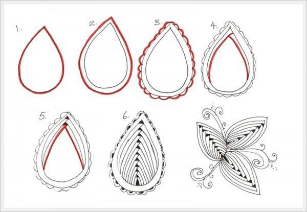 Малюємо орнамент листя крок 6