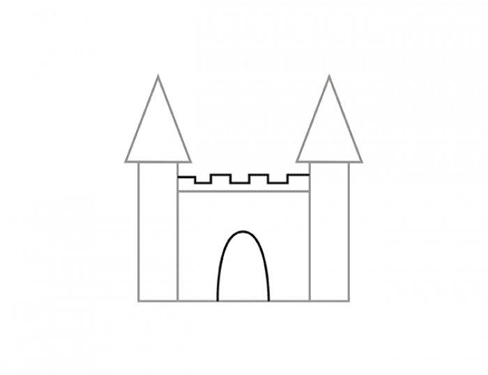 Как нарисовать замок