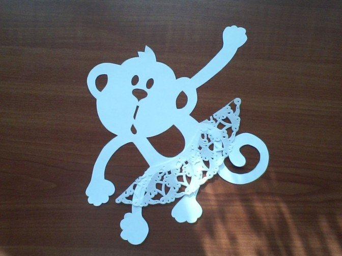 Як зробити витинанку-мавпочку на Новий рік, фото 5