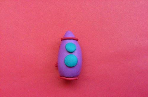 Ракета з пластиліну - майстер-клас, фото 4