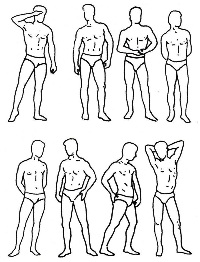 Как нарисовать мужчину, схема 2