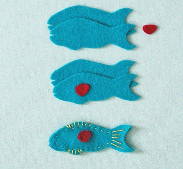 Детские поделки из фетра своими руками - рыбки из фетра, фото 6