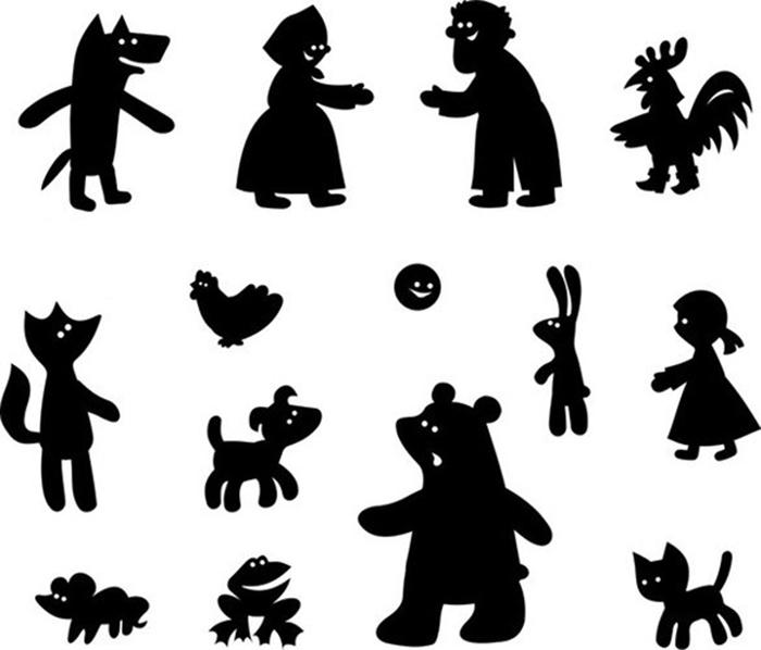 Театр теней своими руками для детей шаблоны 16