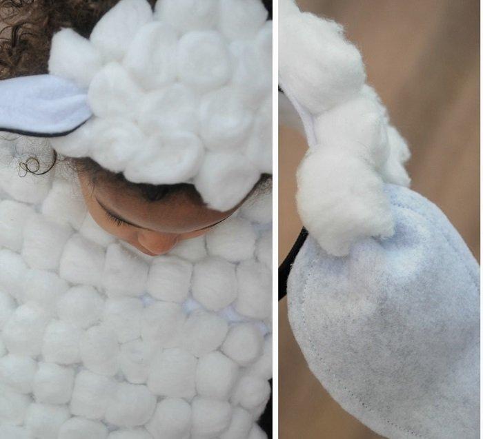 Костюм овечки, головной убор с ушками