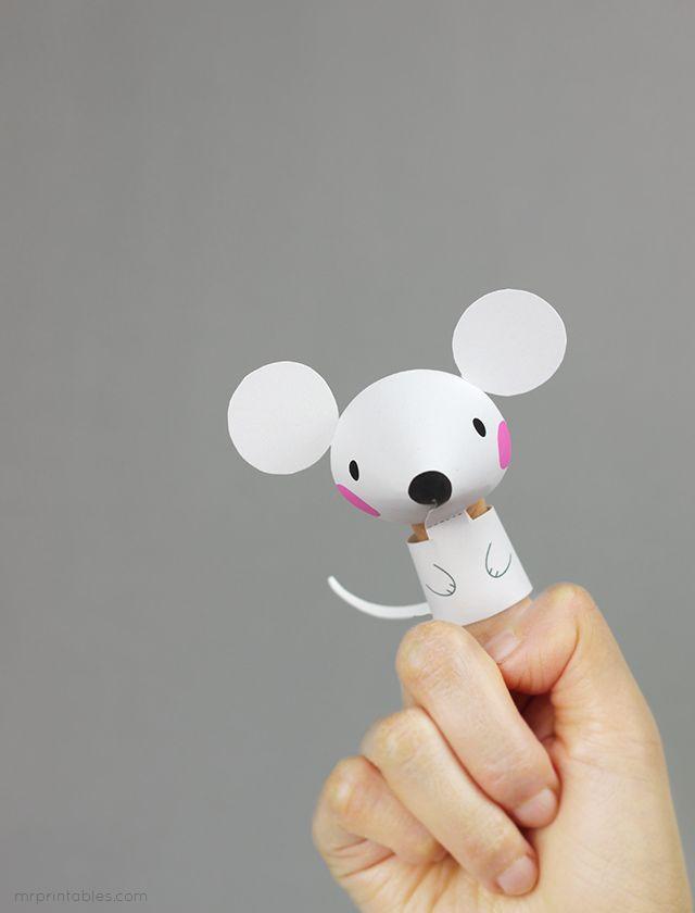 Как сделать пальчиковый театр из бумаги, фото 10