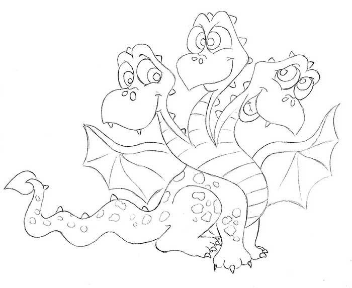 Как рисовать драконов шаг за шагом, схема 1 - этап 10
