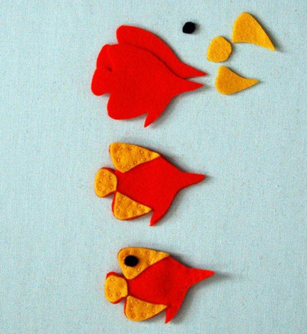 Детские поделки из фетра своими руками - рыбки из фетра, фото 9