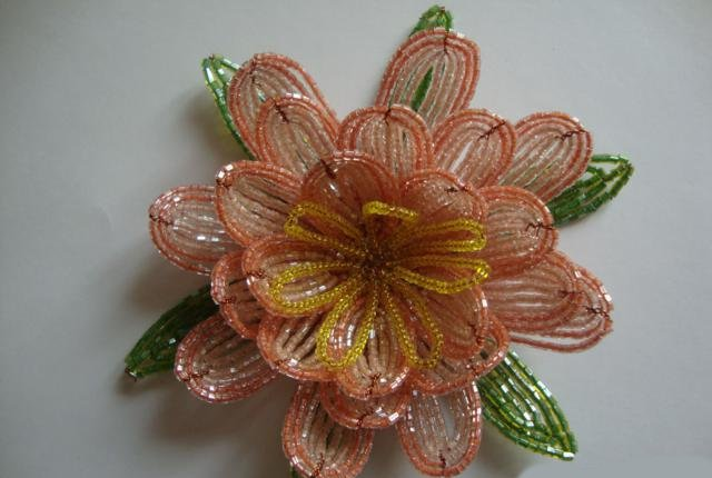 Лилии из бисера, схемы плетения - фото 10