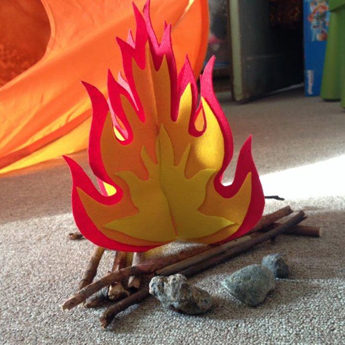 Пламя сделать своими руками