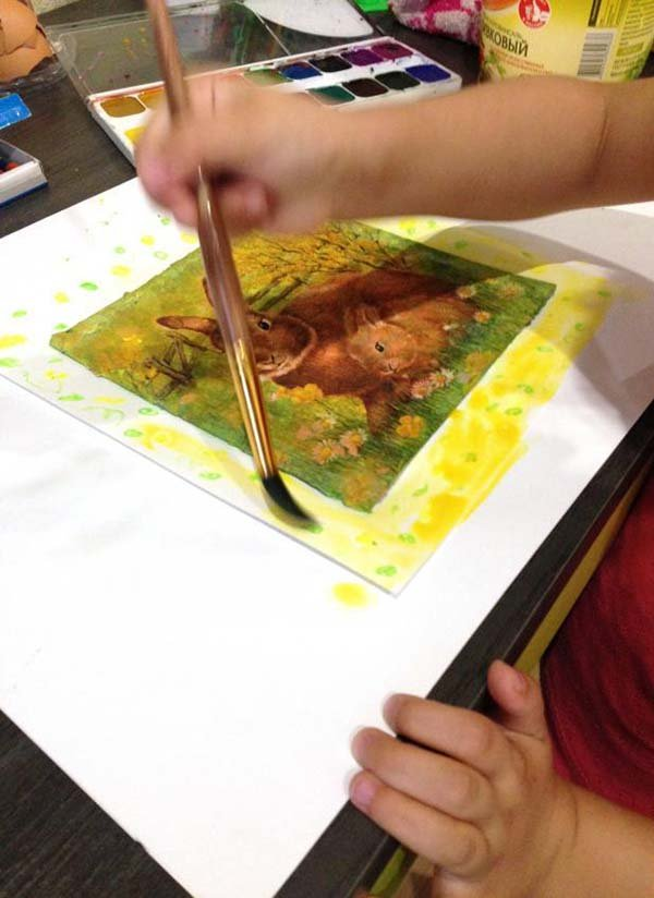Проста мозаїка з яєчної шкаралупи для дітей, фото 11