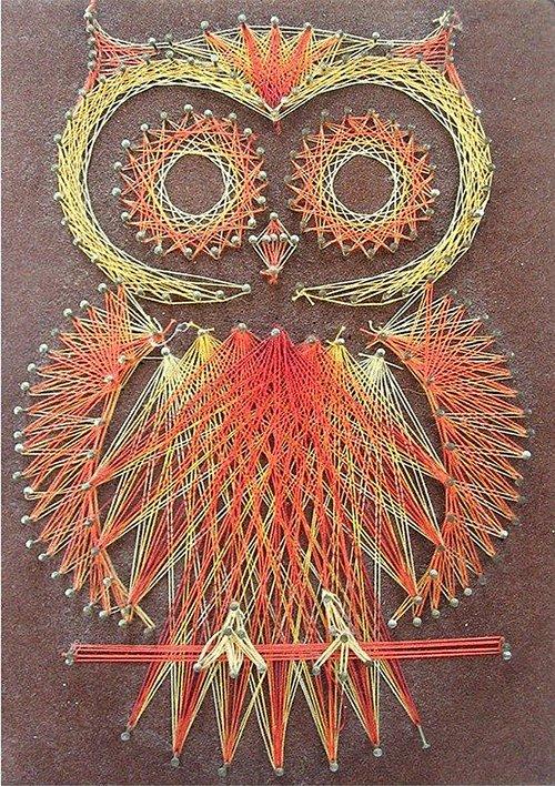 Панно картини з цвяхів і ниток. Схема 5