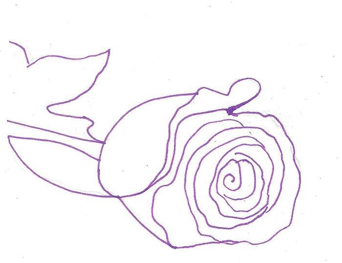 Як намалювати троянду крок за кроком – схема, фото 3