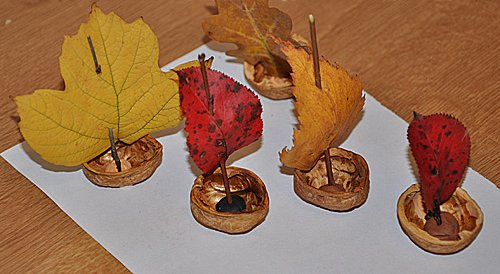 Кораблики из пластилина и ореха - мастер-класс, фото 2