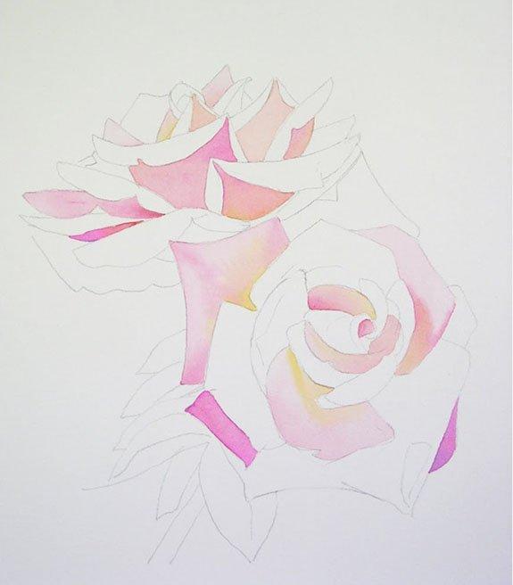 Как нарисовать розу шаг за шагом – схема, фото 17
