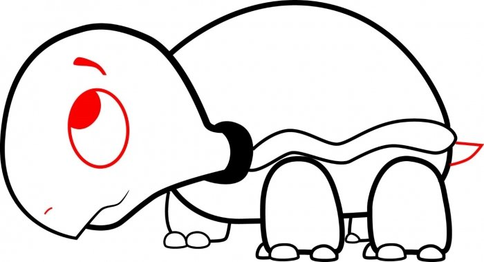 Как нарисовать черепаху карандашом поэтапно, фото 11