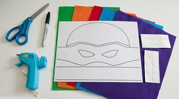 Як зробити маску черепашки-ніндзя, фото 1