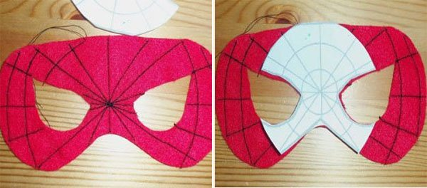 Як зробити маску Людини-павука, фото 3
