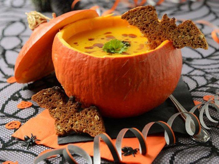 Рецепт на Хеллоуин - Тыквенный суп от Джека