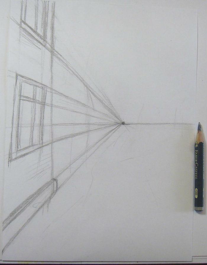 Как нарисовать пейзаж цветными карандашами, шаг 1