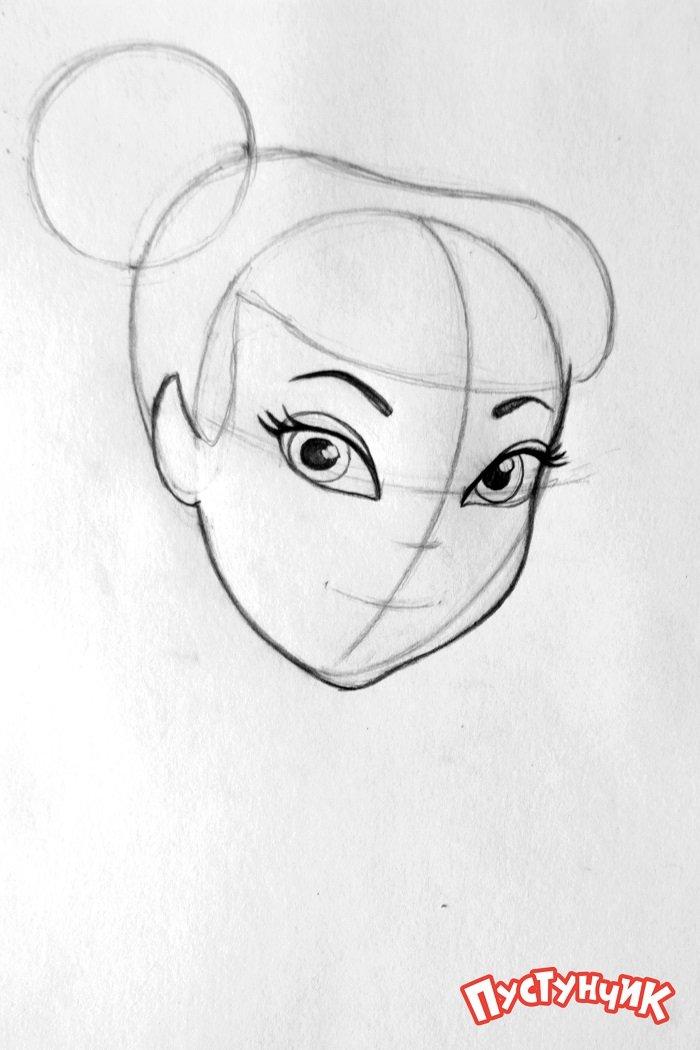 Як намалювати фею Дінь-Дінь поетапно - фото 4