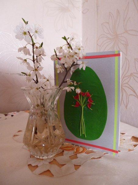 Простая пасхальная открытка своими руками – мастер-класс, фото 12