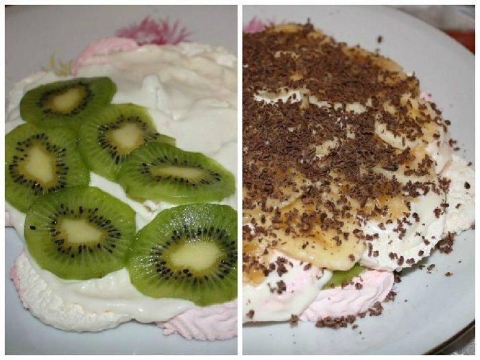 Рецепт торта з зефіром та фруктами без випічки - фото 3
