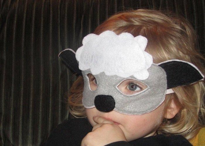 Маскарадные маски овечки из фетра своими руками, фото 4