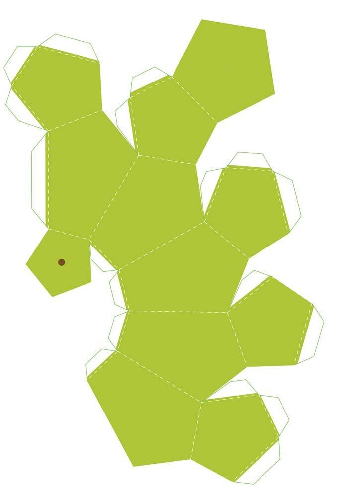Объемные поделки из бумаги. Шаблоны фруктов для объемной аппликации, фото 8