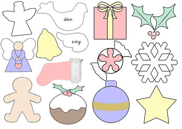 Новогодние игрушки из фетра, фото 18