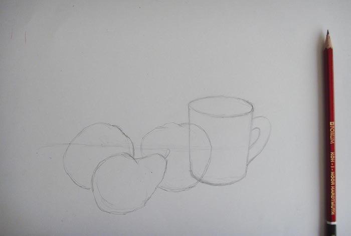 Как нарисовать натюрморт карандашом поэтапно, фото 1