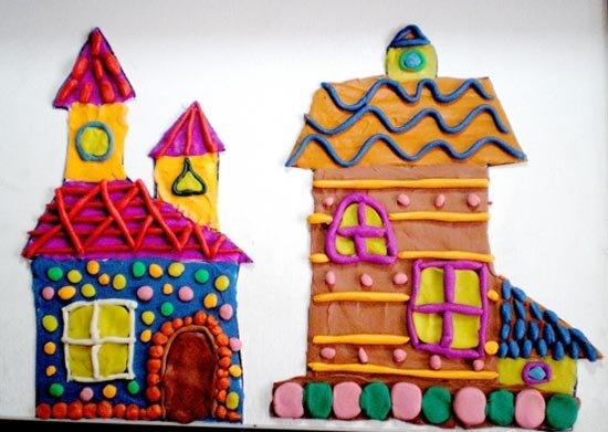 Ліплення з пластиліну в дитячому садку - будиночок, фото 10
