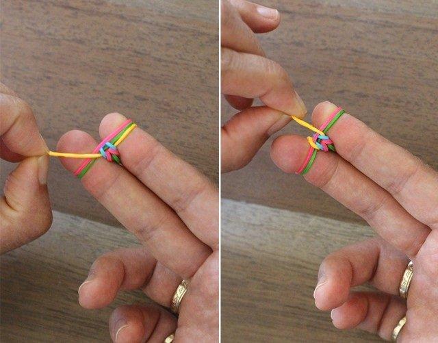 Плетение резинками без станка, инструкция - фото 7