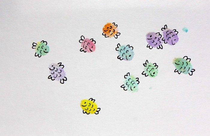 Малювання пальцями картинки - ескіз 2