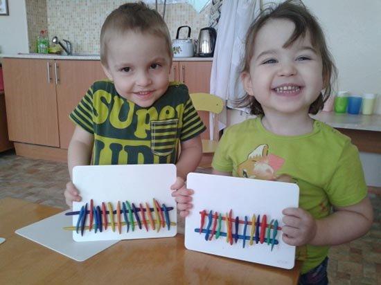Ліплення з пластиліну в дитячому садку - парканчик, фото 4