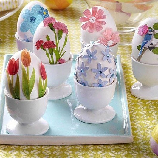 Цветущие пасхальные яйца