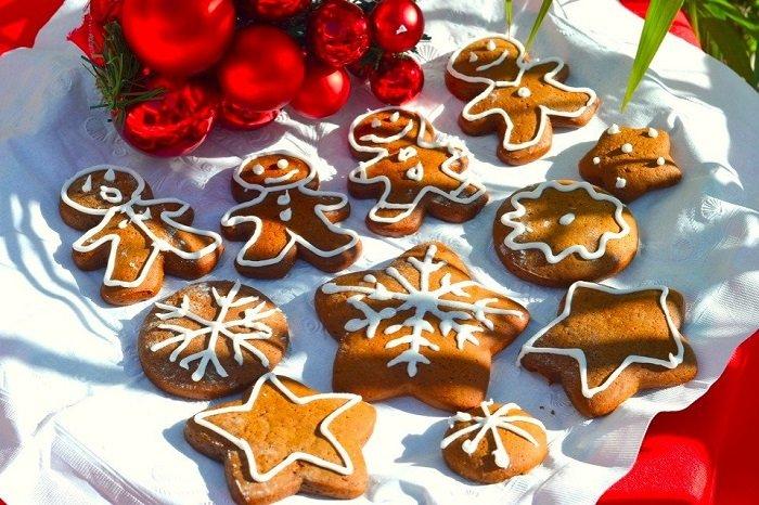 Рождественское печенье человечек
