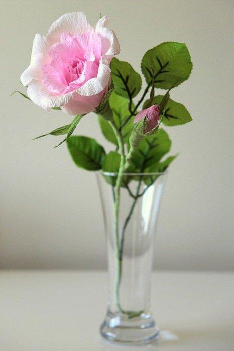 Розы из гофробумаги своими руками - фото 16