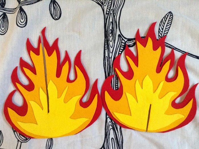 Картинки огонь своими руками
