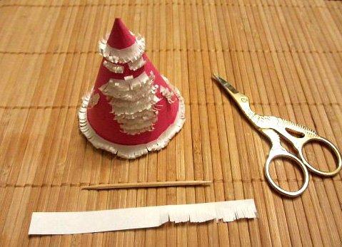 Дід Мороз і Снігурочка з паперу