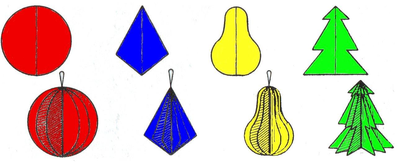 Бумажные изделия на елку
